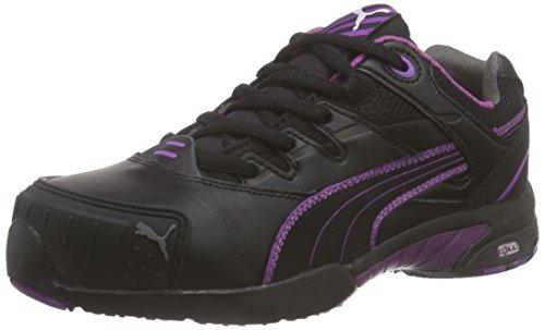 Puma Safety Shoes Stepper Wns Low S2 HRO SRC, Puma 642880-234 Damen Espadrille Halbschuhe, Schwarz (schwarz/lila 234), EU 37