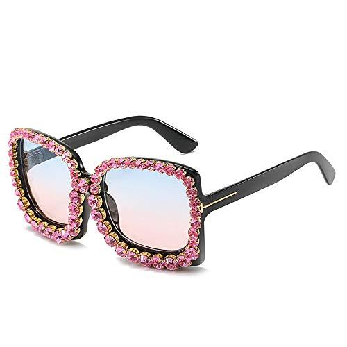 Occhiali da Sole Sunglasses Occhiali da Sole con Strass Occhiali da Sole Quadrati Oversize per Donna Occhiali da Sole Vintage Occhiali da Sole Vintage Uv400 Strass Rosa