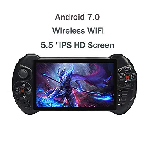 5.5 INCH Andriod Draagbare Spelcomputer 1280 * 720 Screen MTK8163 Quad Core 2G RAM 32G ROM Video Handheld Game Player