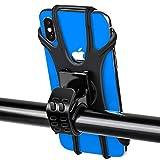Oziral - Soporte universal para teléfono de bicicleta, rotación de 360°, silicona, ajustable, desmontable, soporte para teléfono de bicicleta, compatible con smartphones de 4,5 a 7,5 pulgadas.