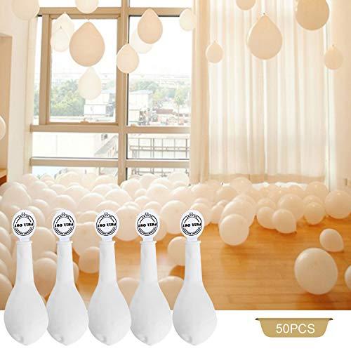 YOHOOLYO 50 Pcs Ballon Lumineux LED Blanc Décoration Lumineuse pour Mariage Fête et Soirée