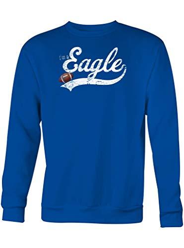 I'm a Eagle American Football Philadelphia Super Bowl Sweatshirt Pullover Pulli, Größe:XL, Farbe:Blau