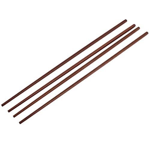 sourcingmap Nouilles de cuisine en bambou Marron foncé 42 cm-baguettes - 2 Paires