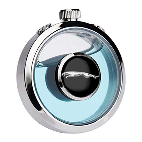 J.MOSUYA Ambientador de Coche Emblema de aromaterapia Botella de Perfume Purificación del Olor de la Salida de Aire del Coche, Eliminar el Olor, Pare J-aguar