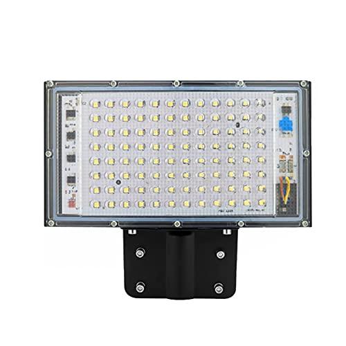 Runtodo Luz de Calle de 100W LED AC 220V-240V Foco de Reflector para Exteriores IP65 Luz de Pared Impermeable Calle Camino JardíN Blanco CáLido