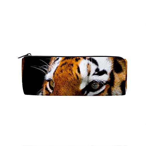 Estuche de lápiz Tiger Round Pen Bag multifunción bolsa de lápices estudiantes papelería maquillaje bolsa suministros de oficina
