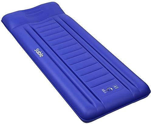 エアーマット Sable キャンプマット ピロー 枕付き エアーベッド 厚さ14cm 押すだけで膨張 コンパクト アウ...