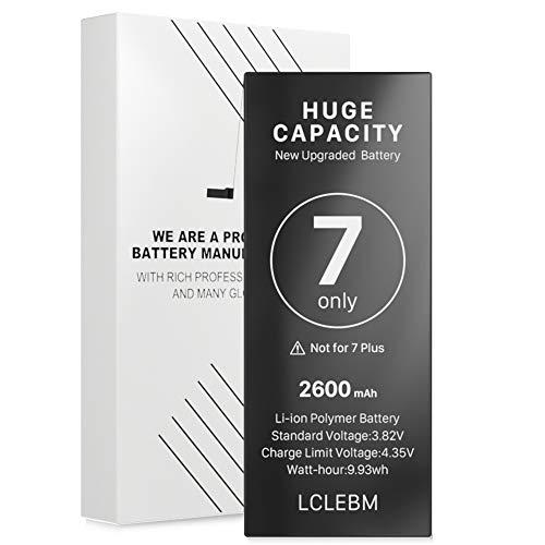 LCLEBM [2600mAh] Battery for iPhone 7, New 0 Cycle Higher Capacity Battery Replacement for iPhone 7,Only for iPhone 7 Battery