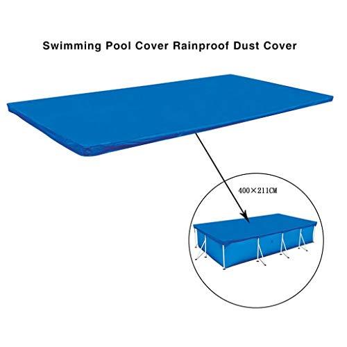 Rosennie Poolabdeckung Rechteckige Aufblasbare Pool Staubabdeckung PE Poolplane Solarabdeckplane Abdeckplane für Familienpools Rechteckige Schwimmbadabdeckung