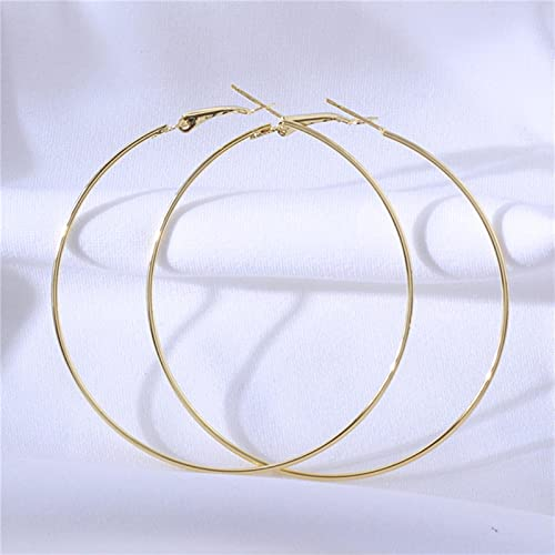 CXWK Pendientes de aro Grandes de Moda Pendientes de círculo Grande Estrellado Brillante de Baloncesto para joyería de Mujer