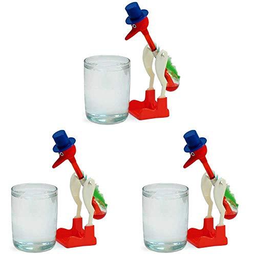 PowerTRC Perpetual Motion Sippy Dripping Drinking Bird (3 Packs) Original Vintage Retro Science Birds
