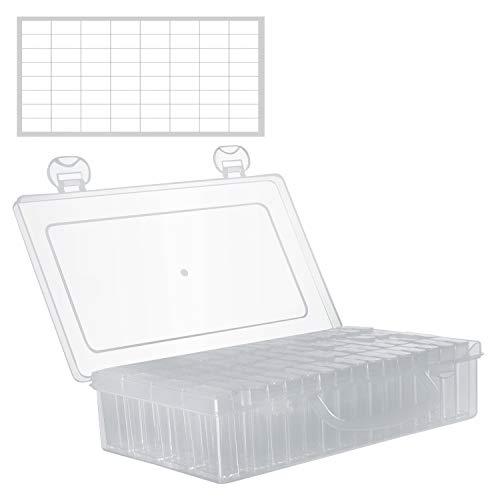 Cajas Organizadoras de Plastico 64 Contenedores Nail Art Diamante- Caja de Almacenaje...