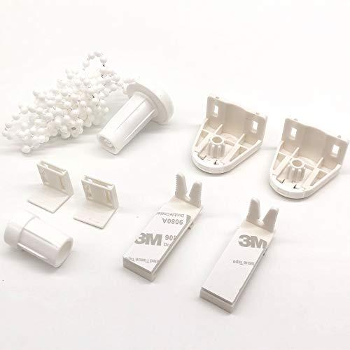 17mm Roller Blind Fitting Piezas de plástico Roller Blind Kit de reparación 3M autoadhesivo Roller Blind Soporte con cadena de cuentas