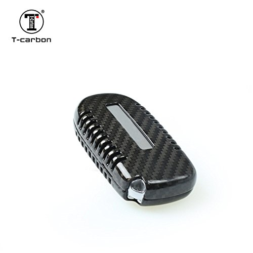 TANGSEN Smart Key Fob Case for Dodge RAM Jeep Cherokee 3 4 5 Button Keyless Entry Remote Personalized Protective Cover Plastic Carbon Fiber Texture