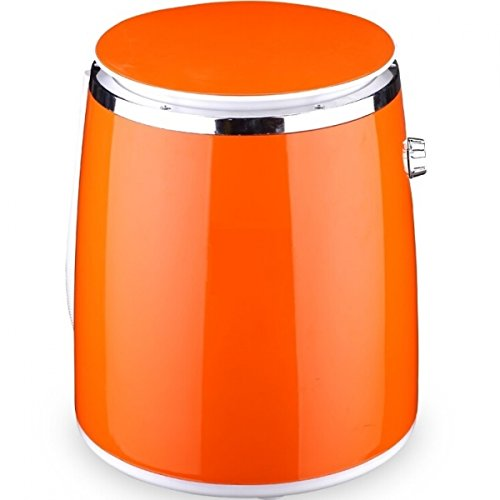 Syntrox Germany WM-380W - Lavadora con centrifugadora (3 kg), color naranja