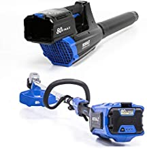 Kobalts 80V 16-inch String Trimmer, 500 CFM 125 MPH Blower, 2.5 Ah Battery and Charger