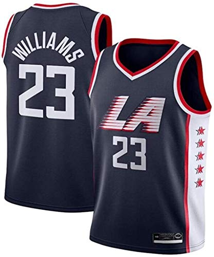 llp 23# Hombres Baloncesto Jersey-Lou Williams-Los Angeles Clippers Retro Sports T-Shirts Bordado...