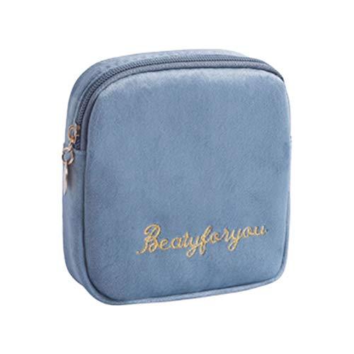 Abaodam - Borsa portatile per asciugamani igienici, con cerniera, grande capacità, per viaggi all'aperto, ufficio (- blu)