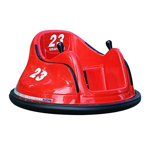 PPangUDing Kinderfahrzeuge Fernbedienung Fahrt auf Autoscooter Auto Spielzeug Elektrofahrzeuge 6V 360 Grad Spinning 6v Elektrospinnauto Batteriebetrieben mit Licht für Kinder (rot)