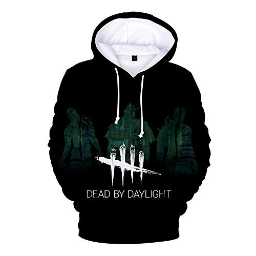 MOHKJMML Dead by Daylight Sweatshirt Sweats à Capuche for Hommes Sweat-Shirt à la Mode Graffiti Couple Pullover Plusieurs Tailles Dead by Daylight Pullover (Color : A03, Size : XL)