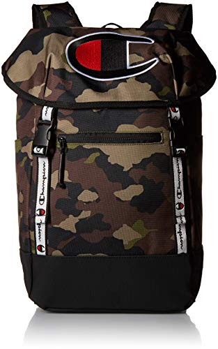 Champion Herren Men\'s Top Load Backpack Rucksäcke, Woodlang/Camouflage, Einheitsgröße