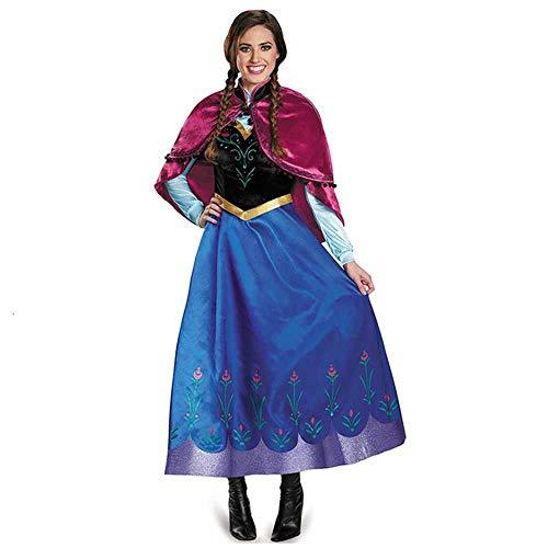 Vestido de Anna Elsa para adultos, para disfraz de jazmín de diosa...