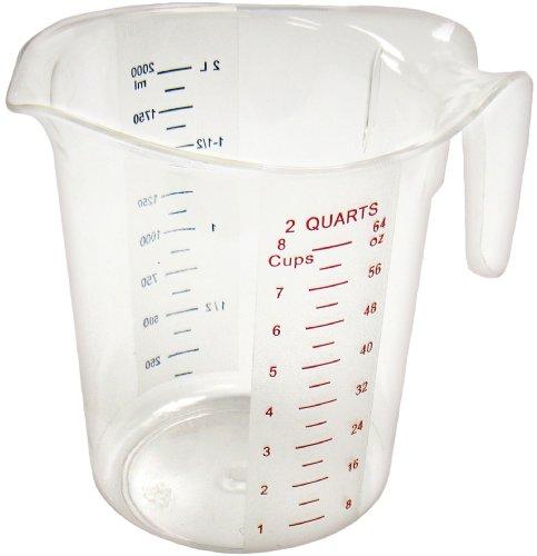 Winco Measuring Cup, Polycarbonate, 2-Quart, Clear