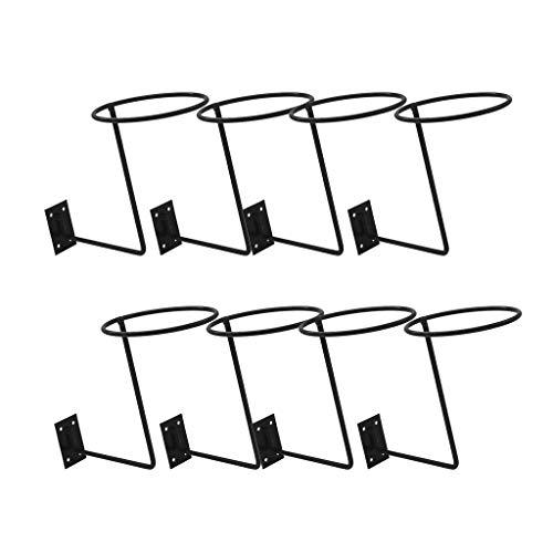 Generic 8pièces Porte-Casque de Moto, Support de Chapeau Multi-Usages, Support Mural pour Perruque Foulards Casquette