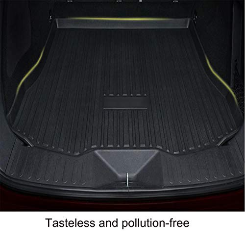 Momoap / Car Black Rubber Mat Car Pad Liner Cargo Mat Tray Trunk Floor Protect Mat for Renault Captur 2014-2020
