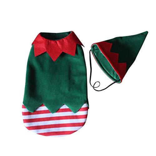 Koobysix Hond benodigdheden Huisdier Kerst Kostuum Grappige Clown Stijl Hond Puppy Outfit Hoed Festival Decor Kit geschenken voor uw hond, S