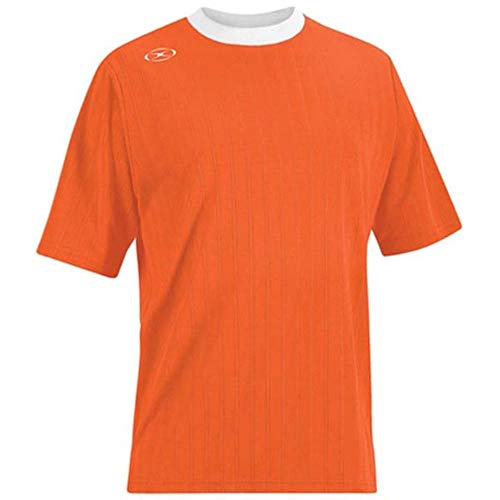 Tranmere Soccer Jersey - Adult Small, Orange/White