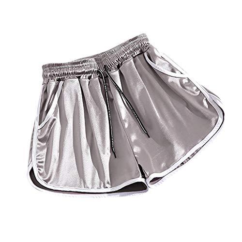 Why Choose Women Scrunch Workout Shorts – Running Satin Yoga Shorts Plus Size Shorts – Elastic Waist Drawstring Shorts Hot Pants for Sports Gym Workout Night Club
