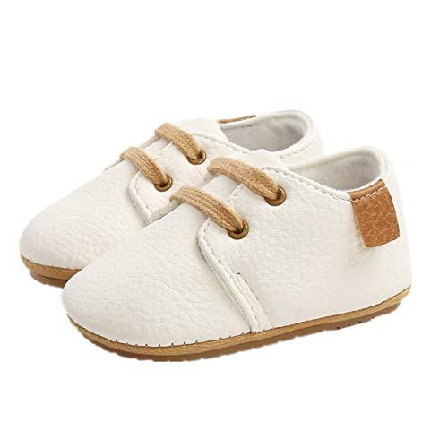 Auxm Babyschuhe für 0-18 Monate, Baby Jungen Mädchen Schuhe Lauflernschuhe Kleinkinder Schnüren Sneakers Säugling Prewalker Schuhe