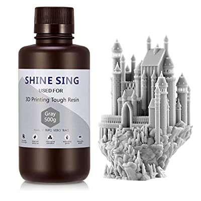 SHINE SING 3D light-cured resin 3D Rapid Resin LCD UV-Curing Resin 405nm for LCD 3D Printing 500g Grey