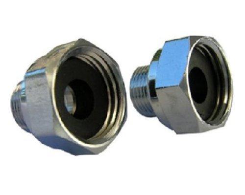 LASCO 10-0061 Delta Faucet 1/2 Female Pipe Thread by 3/8 Male Compression Brass Adapter, 2 Piece