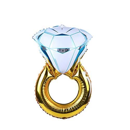Yajiun Globos cumpleaños Wedding, Gigante Diamante Anillo Anillo en Forma de Hoja Aluminio Hinchable Helio de Noce decoración de decoración Fournitures