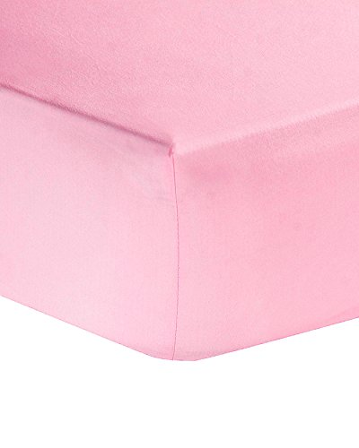 Plain Everday Easycare Pollycotton Fitted Sheet (Bunk Bed, Pink)