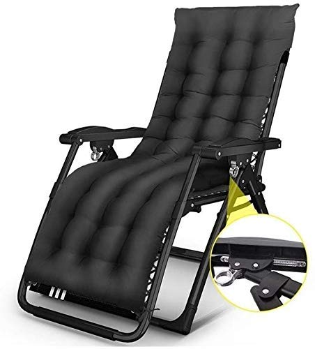 WJXBoos Tumbona Exterior Grande con Bloque de Gravedad Cero en Garden & Outdoors Home Chaise Longue de Playa Plegable con Acolchado de algodón