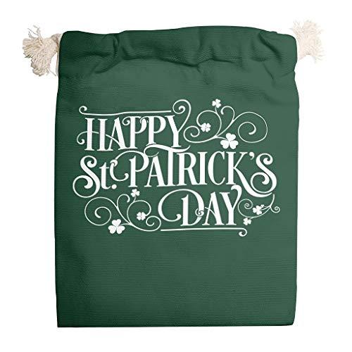 6 bolsas de lona con cordón lavable para el día de San Patricio, para regalo de Navidad, aniversario, bolsa de caramelos.