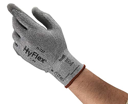 Ansell HyFlex 11-727 Schnittschutz-Handschuhe, Mechanikschutz, Grau, Größe 10 (12 Paar pro Beutel)