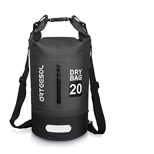 arteesol Dry Bag - 5L/10L /20L /30L wasserdichte Tasche/Packsack, Dry Tasche, Tragbarer Trockensack mit Verstellbarem Schultergurt Geeignet für Kajak, Boot, Kanufahren/Angeln/Rafting