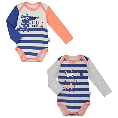 Petit Béguin - Lot de 2 bodies bébé garçon manches longues Little Friends - Taille - 24 mois