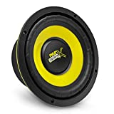 """Pyle Car Mid Bass Speaker System - Pro 5 Inch 200 Watt 4 Ohm Auto Mid-Bass Component Poly Woofer Audio Sound Speakers For Car Stereo w/ 30 Oz Magnet Structure, 2.2"""" Mount Depth Fits OEM - PLG54 Yellow"""