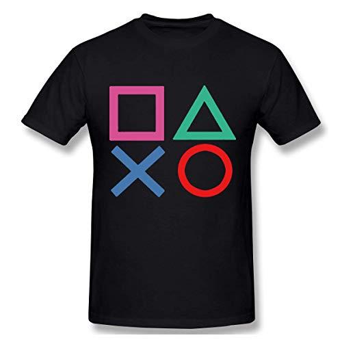 Ao Li Ka Camiseta de manga corta de algodón para hombre, color negro
