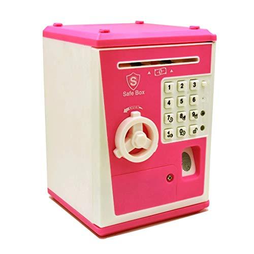 Huchas Hucha de huellas dactilares contraseña caja alcancía depósito bancario y la retirada de la máquina de gran tamaño caja de dinero con bloqueo regalo creativo lindo de los niños Tarro de Dinero