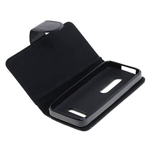 Mobilfunk Krause - Book Hülle Etui Handytasche Tasche Hülle für Nokia 301 (Schwarz)