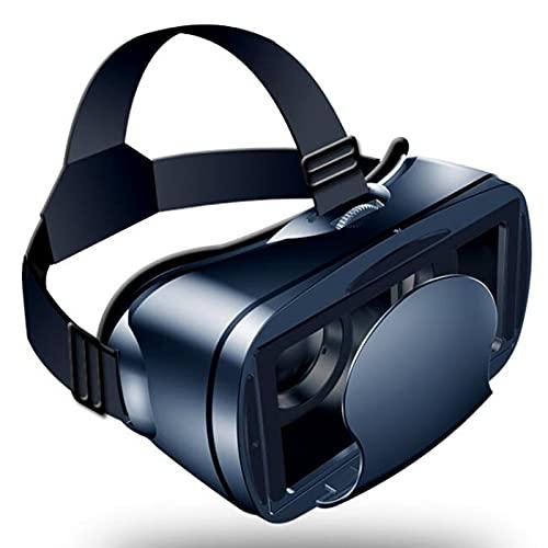 HBOY Realidad Virtual 3D VR Headset Smart Glasses Casco para Teléfonos Inteligentes Teléfono Celular Móvil 7 Pulgadas Lentes Binoculares con Controladores (Sin Mango)