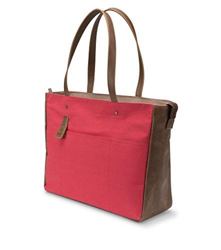 HP 14.0 Ladies Slim Tote V1M58AA#ABB Schoudertas voor dames, 35,6 cm (14 inch) rood/bruin.
