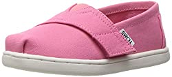top 10 pink toddler toms TOMS Bubble Gum Pink Canvas Tiny Classics 10009918 (Size: 9)