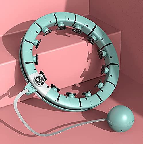 Cerceau amincissant et gainant pour la perte de poids, cerceau intelligent avec effet massant, cerceau réglable, 16 parties amovibles, cercle de modelage 360 °, anneau de sport de massage, Adju